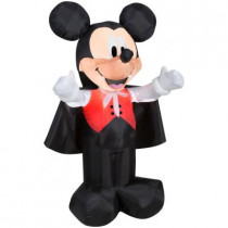 42 in. H Inflatable Mickey as Vampire