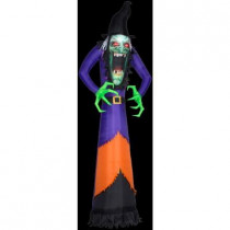 12 ft. Inflatable Photorealistic Green Witch