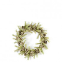 Evergreen Collection 24 in. Pine and Pinecone Artificial Christmas Wreath (Pack of 2)