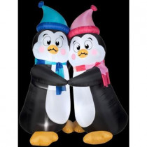 6 ft. Inflatable Animated Shivering Penguins