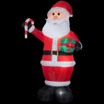 12 ft. H Inflatable Giant Santa with Gift and Candy Cane