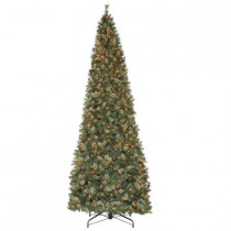 15 ft. Alexander Pine Quick-Set Artificial Christmas Tree with Pinecones and 1850 Clear Lights
