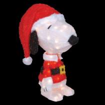 18 in. Pre-Lit Snoopy in Santa Suit