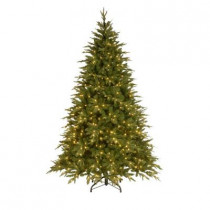 7.5 ft. Feel-Real Pomona Pine Artificial Christmas Tree with 600 Clear Lights