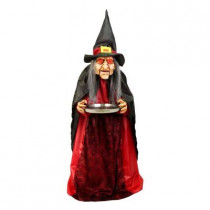 36 in. Animated Witch with Serving Tray
