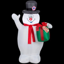 42 in. H Inflatable Frosty with Scarf and Present