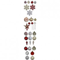 Cranberry Frost Shatter-Resistant Assorted Ornament (100-Pack)