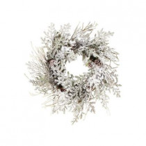Evergreen Collection 24 in. Snow Covered Pine Needles Artificial Christmas Wreath (Pack of 2)
