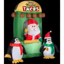 6 ft. H Inflatable Animated Santa Taco Stand