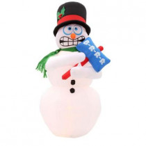 6 ft. H Inflatable Animated Shivering Snowman