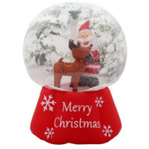 6 ft. H Inflatable Photorealistic Snow Globe with Santa and Reindeer