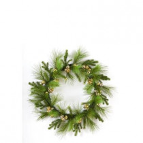 Evergreen Collection 36 in. Pine with Jingle Bells Artificial Christmas Wreath
