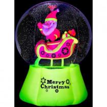 6 ft. H Inflatable Neon Santa N Sleigh Snow Globe