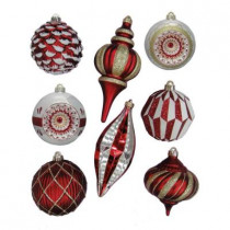 Cranberry Frost Assorted Shatter-Resistant Ornament (8-Pack)