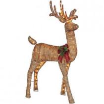 5 ft. Pre-Lit Grapevine Animated Standing Deer