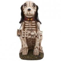 15 in. H Skeleton Hound Dog Welcome Statue