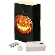 LED Jack-O'-Lantern Luminaria Kit with Remote (Pack of 10)