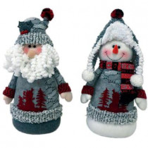 13 in. Arctic Sit Abouts with Hats (Set of 2)