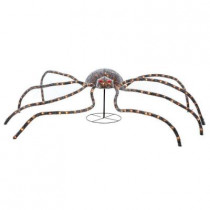 96 in. 175-Light Tinsel Spider