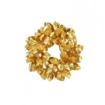 Southern Manor Collection 24 in. Gold Magnolia Leaf Artificial Christmas Wreath