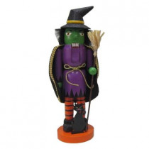 15 in. H Wooden Witch Nutcracker