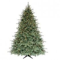 7.5 ft. Royal Spruce Quick-Set Artificial Christmas Tree with 1100 Clear Lights