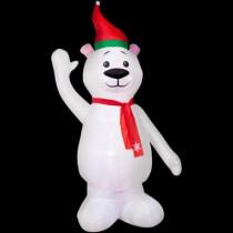 7 ft. H Inflatable Polar Bear with Scarf