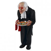 36 in. Animated Butler with Serving Tray