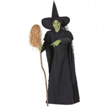 6ft. Animated Wicked Witch of the West with Broom