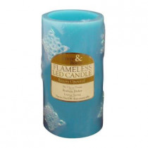 3 in. x 6 in. Blue Flameless LED Candle Design