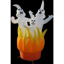 10 ft. Inflatable Ghosts On Fire