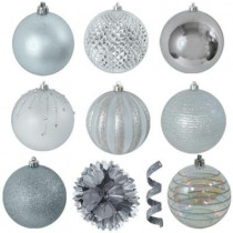 Variety Silver Ornament Pack (40-Count)