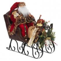 Plush Santa in Sleigh