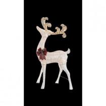 7.5 ft. Pre-Lit White Standing Deer