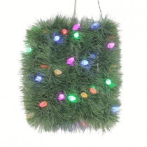 18 ft. Artificial Roping Garland with 50 Color Choice LED Lights