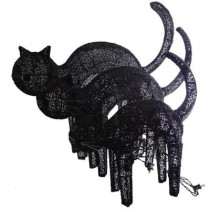 Pre-Lit Black Cats (Set of 3)
