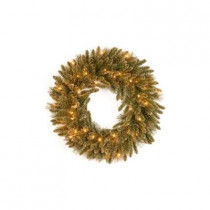 30 in. Glittery Gold Pine Artificial Wreath with Glitter, Gold Cones, Gold Glittered Berries