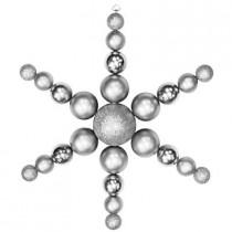 31 in. Silver Shatterproof Star Flake Ornament