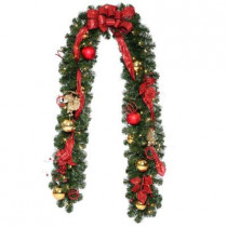 9 ft. Decorative Collection Artificial Garland with 50 Clear Lights