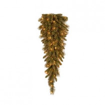 42 in. Glittery Gold Pine Teardrop Swag with Glitter, Gold Cones, Gold Glittered Berries