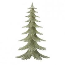 10 in. Silver Glitter Tree
