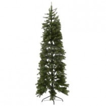 7 ft. Unlit Downswept Douglas Fir Slim Artificial Christmas Tree