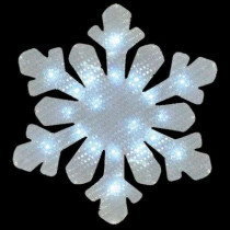 17 in. Battery Operated Snowflake Window Decor