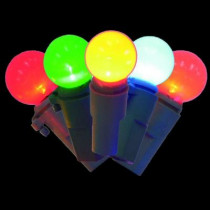 20-Light Multi-Color Battery-Operated Smooth Sphere Ceramic Light Set