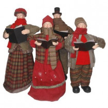 Plush Collection 28 in. to 34 in. Carolers (4-Piece)