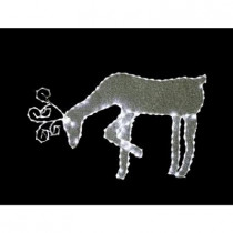 21 in. Grazing Reindeer with 144 LED Lights Decoration