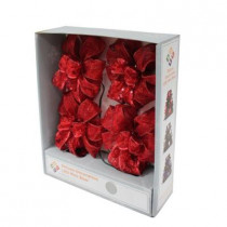 4 in. Delux Decorative Red LED Mini Bows (4-Pack)