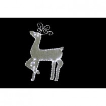 35 in. Standing Reindeer with 144 LED Lights Decoration