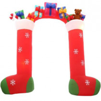 9.5 ft. H Inflatable Stockings with Gifts Archway