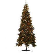 9 ft. Alexander Pine Quick-Set Artificial Christmas Tree with Pinecones and 750 Clear Lights
